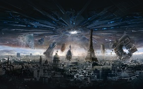 Picture City, Paris, France, Day, Sam, Aliens, General, Independence Day, Arc de Triomphe, Louvre, 20th Century …