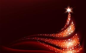 Picture decoration, stars, tree