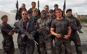 Picture Arnold Schwarzenegger, Sylvester Stallone, Antonio Banderas, Jason Statham, Dolph Lundgren, Jet Li, Wesley Snipes, The …
