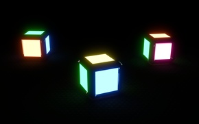 Picture color, rendering, minimalism, colors, cube, Cube, cube, render, blender, blender