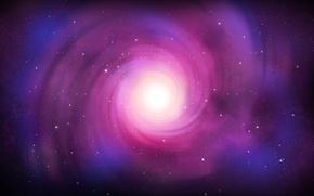 Wallpaper color, stars, Spiral