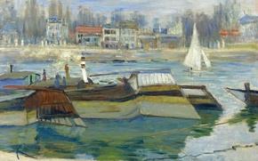 Picture the city, river, picture, Claude Monet, The Seine at Asnières