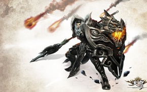 Picture fire, flame, game, armor, sun, asia, man, dragon, fang, shield, warrior, fire dragon, chinese, asiatic, …