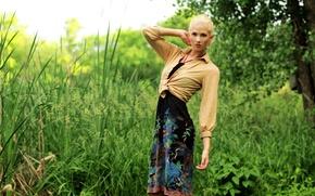 Picture girl, nature, Berit Birkeland
