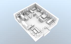 Picture concept, house, white, design