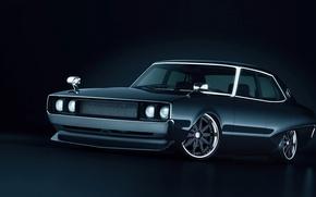 Picture Nissan, black, Nissan, jdm, Skyline, front, skyline, s, C110