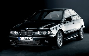 Picture black, BMW, car, sedan, black, E39, 5 Series, High-Line Sport