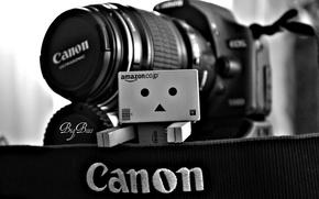 Wallpaper the camera, danbo, canon, box