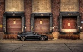 Picture black, Aston Martin, V12, Vantage Carbon Edition, view side
