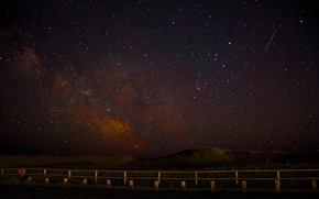 Picture space, stars, night, space, landscape