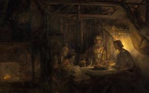 Picture picture, mythology, Rembrandt van Rijn, Philemon and Baucis