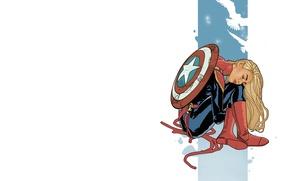 Picture Shield, comic, comics, MARVEL, Carol Danvers, Captain Marvel, Captain Marvel, Carol Danvers