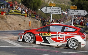 Picture Ford, Red, Auto, People, Turn, WRC, Rally, Fiesta, RACC