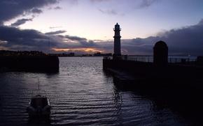 Picture Strait, sunset, harbour, harbour, Connecticut, Long Island, New Haven, Newhawen