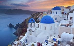 Picture city, the city, coast, Greece, coast, Greece