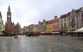 Picture home, area, Poland, architecture, town hall, Wroclaw, Breslau, Wroclaw