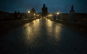 Picture night, lights, Prague, lights, Charles bridge