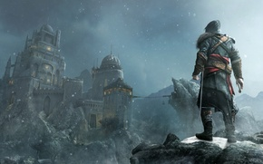 Wallpaper fortress, assassins creed, Ezio, revelations, masiaf