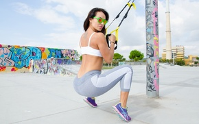 Picture girl, pose, workout, fitness, gym, stretching, gymstretching