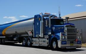 Picture blue, kenworth, tank, tanker, w900