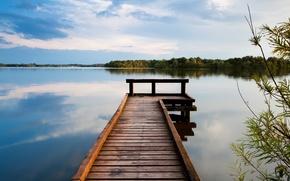 Picture water, landscape, lake, pierce