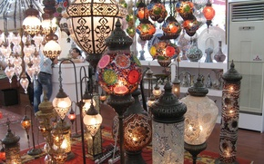 Picture Istanbul, Turkey, lamps