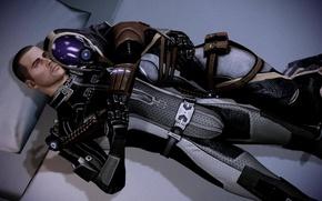 Picture mass effect, Shepard, Tali, hugs
