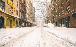 Picture New York, winter, snow
