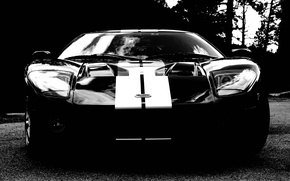 Picture black, supercar, ford gt, Ford.