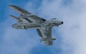 Picture flight, fighter, bomber, Hawker Hunter