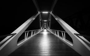 Picture design, bridge, black and white, structure, b/w, construction, centred composition