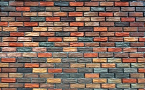 Picture background, wall, texture, masonry, colorful, Brick