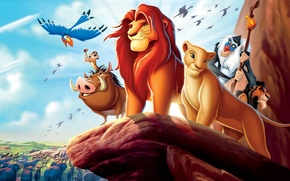 Picture monkey, Timon, the lion king, Pumbaa, Nala, Simba, Timon and Pumbaa, hyenas