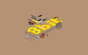 Wallpaper minimalism, graphics, pixels, projection, pixel art, 8-bit, the inscription
