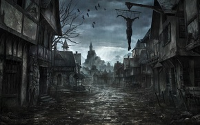 Wallpaper ART, The SKY, The CITY, RAIN, PEOPLE, HOME, CROWS, THE RAYS OF THE SUN, WELL, ...