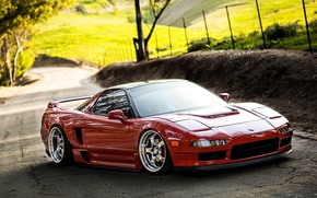 Picture car, machine, tuning, desktop, red, car, red, jdm, tuning, wallpapers, acura, nsx, Acura, automobiles