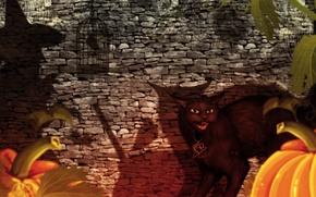 Wallpaper Halloween, Fantasy, witch