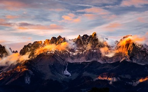 Picture the sky, clouds, light, mountains, panorama