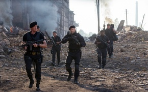 Picture Sylvester Stallone, Antonio Banderas, Jason Statham, Dolph Lundgren, The Expendables 3, The expendables 3