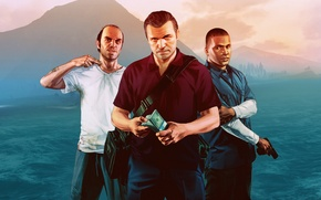 Picture Michael, Franklin, gta5, Trevor