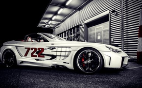 Picture night, tuning, supercar, Mercedes, mercedes benz slr mclaren