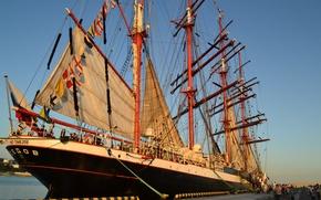 Picture ship, Sea, Sochi, regatta