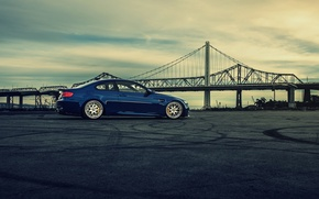 Picture bridge, BMW, BMW, side, blue, E92