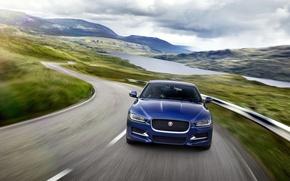 Picture road, speed, Jaguar XE R Sport