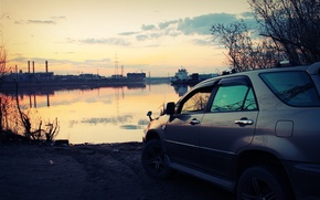 Picture machine, sunset, Russia, Toyota, casting, Harrier, avs, Yakutsk