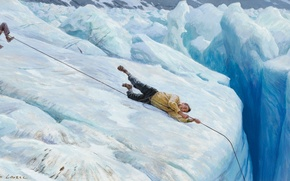 Picture mountains, art, climber, insurance, tom lovell