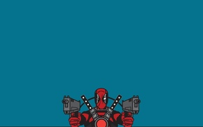 Wallpaper look, weapons, background, costume, Deadpool, Deadpool, Marvel Comics
