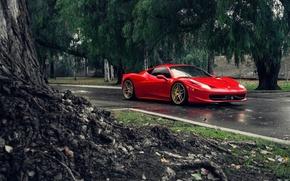 Picture Ferrari, Red, 458, Front, Tuning, Supercars, Italia, Road, Class iD