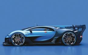 Picture Bugatti, Bugatti, Profile, Vision, Gran Turismo, Chiron