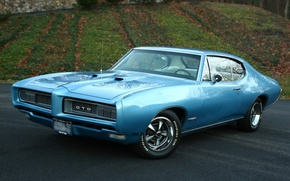 Picture muscle car, coupe, pontiac, hardtop, gto